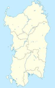 Mappa della Sardegna.